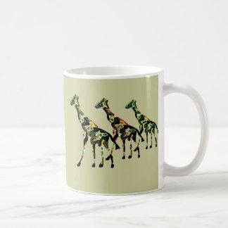 Tasse de famille de girafe