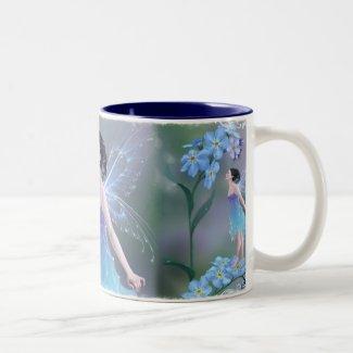 Tasse de fée de fleur de myosotis