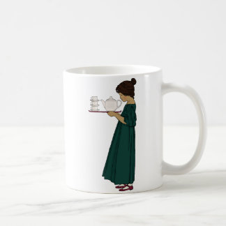 tasse de fille de thé des années 1920