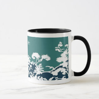 Tasse de fleur de jardin - Teal, personnaliser