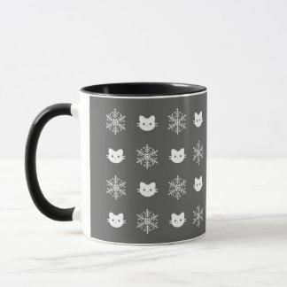 Tasse de flocon de neige de chat de Kitty