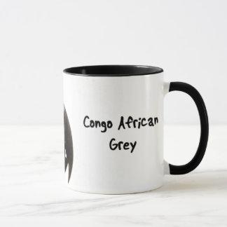 Tasse de gris africain du Congo