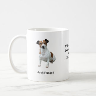 Tasse de Jack Russell - avec deux images et un