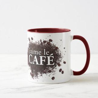 tasse de j'aime le café (café d'amour d'I)