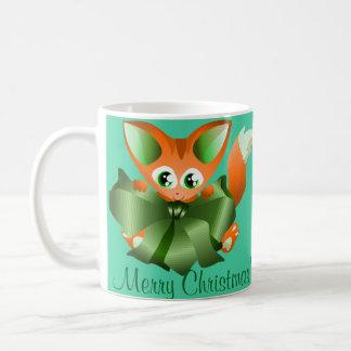 Tasse de Joyeux Noël avec le renard de bébé
