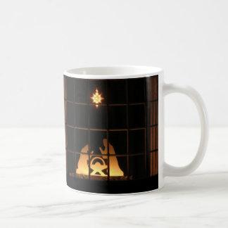 Tasse de Joyeux Noël de nativité de silhouette de