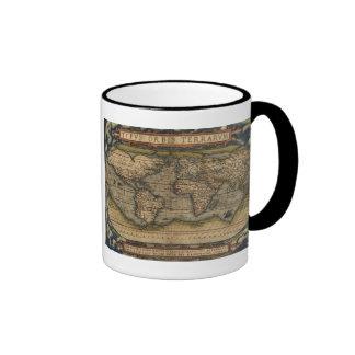 Tasse de la carte 1570 du monde d'Ortelius