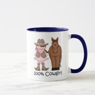 Tasse de la cow-girl 100% et du cheval