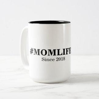 Tasse de la vie de maman de Hashtag