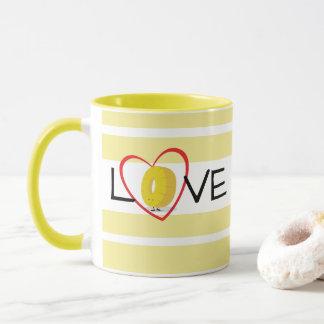 Tasse de l'amour | d'anneau d'ananas