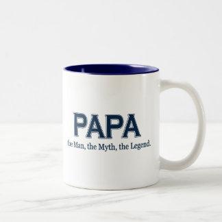 Tasse de légende de mythe d'homme de papa