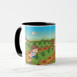 Tasse de légume de cueillette