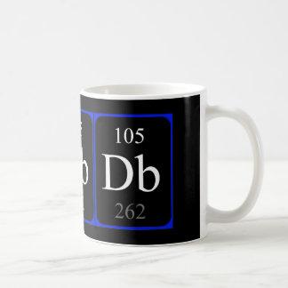 Tasse de l'élément 105 - Dubnium