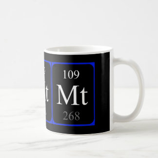 Tasse de l'élément 109 - Meitnerium