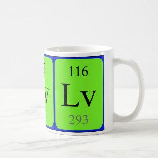 Tasse de l'élément 116 - Livermorium