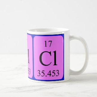 Tasse de l'élément 17 - chlore
