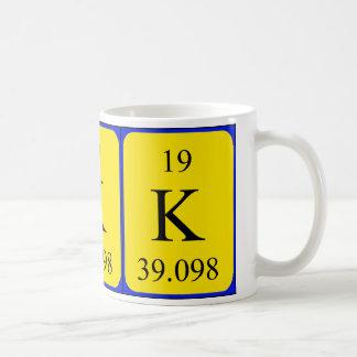 Tasse de l'élément 19 - potassium