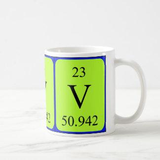 Tasse de l'élément 23 - vanadium