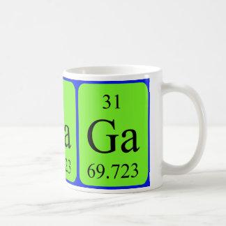 Tasse de l'élément 31 - gallium