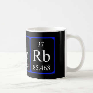 Tasse de l'élément 37 - rubidium