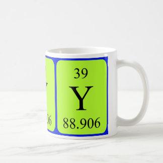 Tasse de l'élément 39 - yttrium