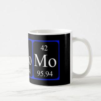 Tasse de l'élément 42 - molybdène