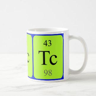 Tasse de l'élément 43 - technétium