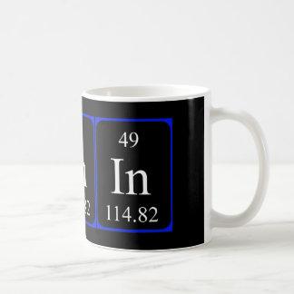 Tasse de l'élément 49 - indium