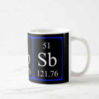 Tasse de l'élément 51 - antimoine