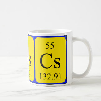 Tasse de l'élément 55 - césium