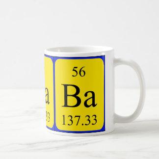 Tasse de l'élément 56 - baryum