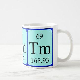 Tasse de l'élément 69 - thulium