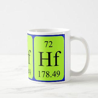 Tasse de l'élément 72 - hafnium
