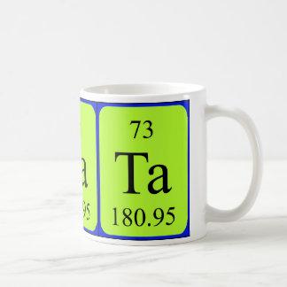 Tasse de l'élément 73 - tantale