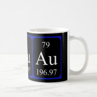 Tasse de l'élément 79 - or