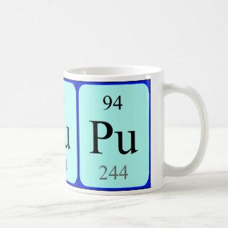 Tasse de l'élément 94 - plutonium