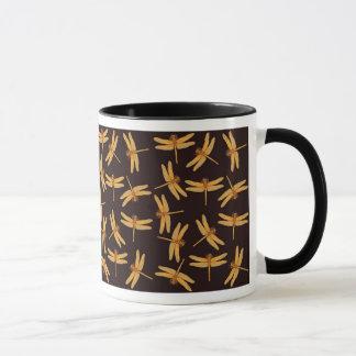 Tasse de libellules d'or