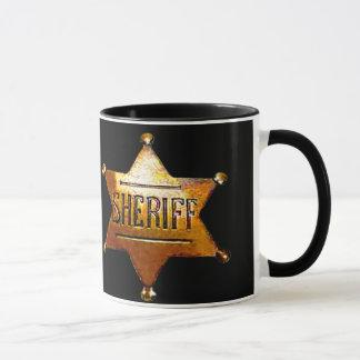 Tasse de l'insigne du shérif (dans plusieurs