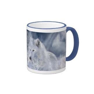 Tasse de loup blanc