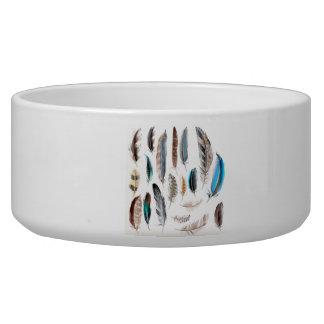 Tasse de luxe de concepteurs : blanc avec des bols pour chien