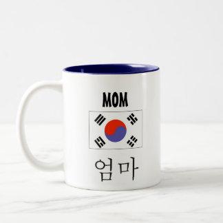 Tasse de maman avec le drapeau coréen