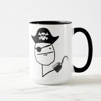 Tasse de Meme de visage de tisonnier de pirate
