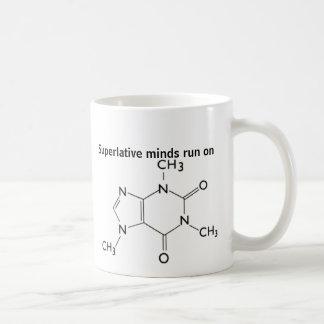 Tasse de molécule de caféine de presse injectée de