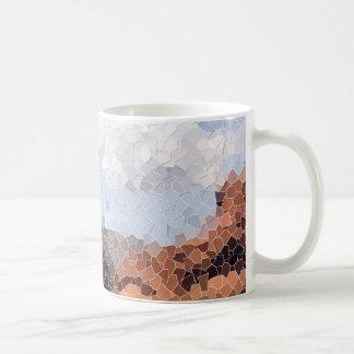 Tasse de mosaïque de canyon de neige