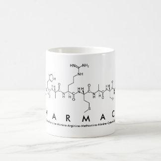 Tasse de mot de peptide de pharmacie