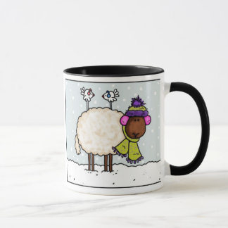 tasse de moutons d'hiver