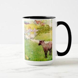 Tasse de moutons noirs de bêlement de bêlement