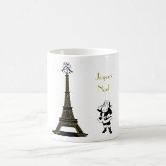 Tasse de Noël de Paris de Tour Eiffel de Joyeux