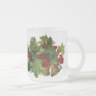 Tasse de Noël givrée par houx victorien