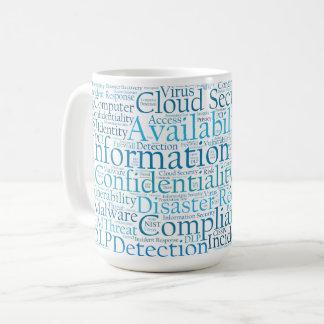 Tasse de nuage de mot de protection des données
